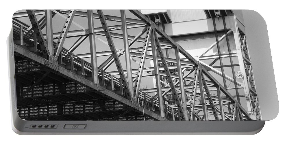 Bridge Portable Battery Charger featuring the photograph Bridge Willmington Nc by Tommy Anderson