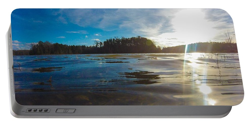 Lake Portable Battery Charger featuring the photograph Briery Creek Lake by James Gregory