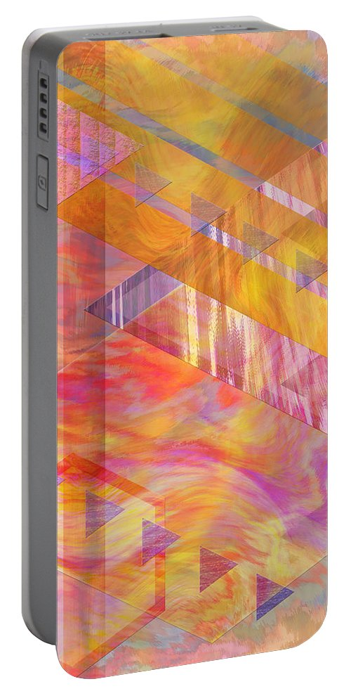 Affordable Art Portable Battery Charger featuring the digital art Bright Dawn by John Beck