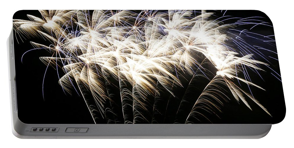 July 4th Portable Battery Charger featuring the photograph Bright Lights by Phill Doherty