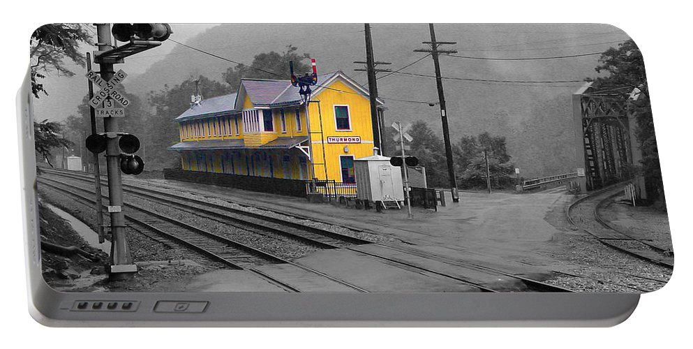 Pat Turner Portable Battery Charger featuring the photograph Bright Spot In Thurmond by Pat Turner