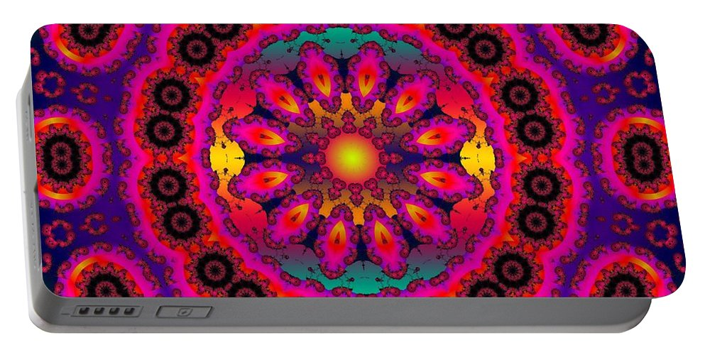 Sun Portable Battery Charger featuring the digital art Brighter Days by Robert Orinski
