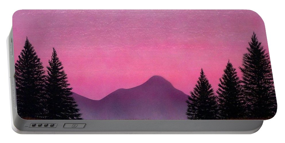 Landscape Portable Battery Charger featuring the painting Brightness by Frank Wilson