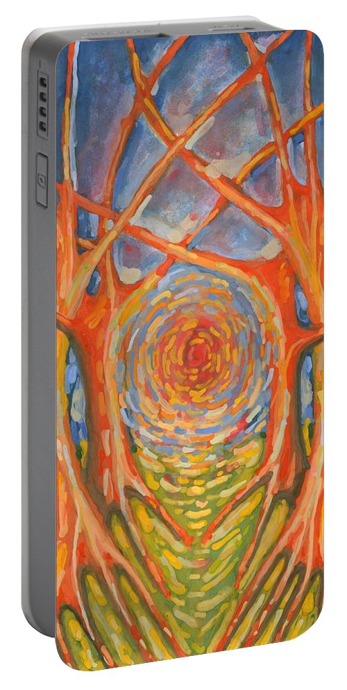 Colour Portable Battery Charger featuring the painting Brightness by Wojtek Kowalski