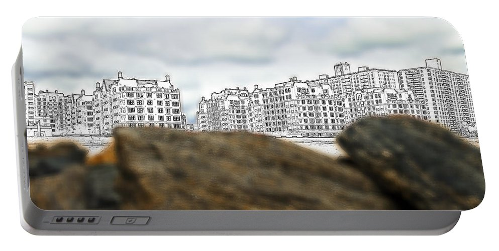 America Portable Battery Charger featuring the photograph Brighton Beach by Svetlana Sewell