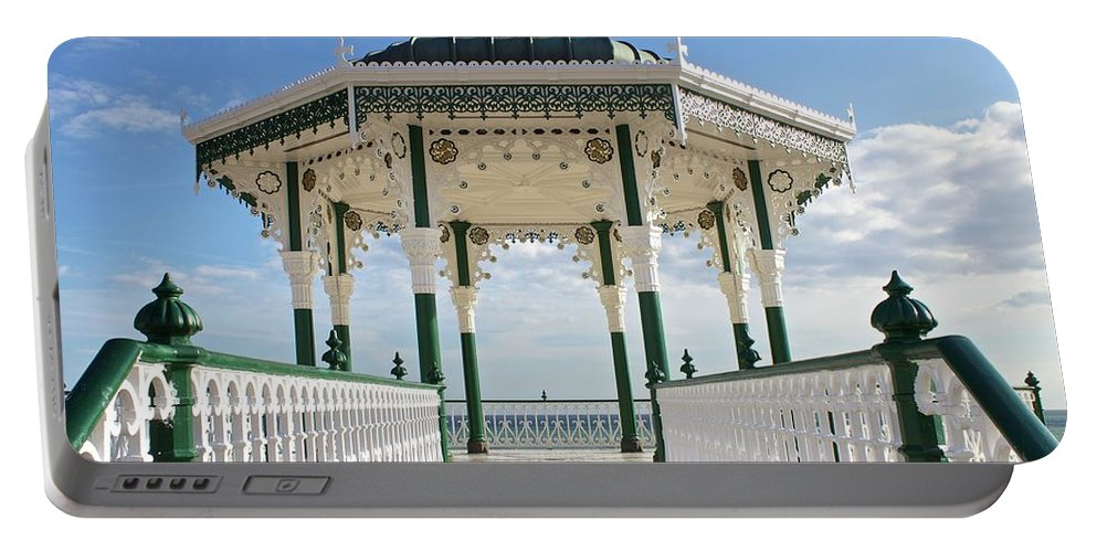 Architecture Portable Battery Charger featuring the photograph Brighton Seafront Gazebo by Venetia Featherstone-Witty