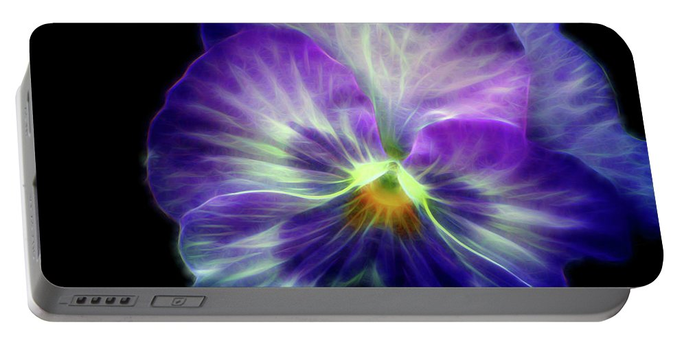 Flowers Portable Battery Charger featuring the digital art Brilliance by Christopher Saleh