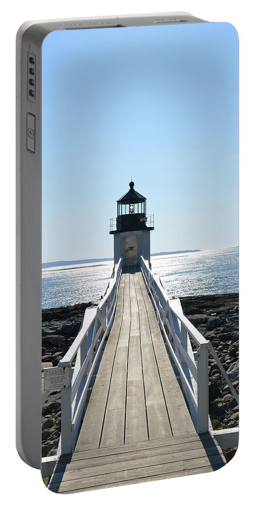 Lighthouse Portable Battery Charger featuring the photograph Brilliant Light by Corinne Rhode