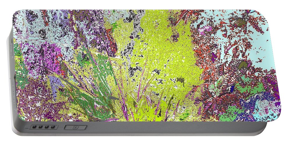 Abstract Portable Battery Charger featuring the photograph Brimstone Fantasy by Ian MacDonald