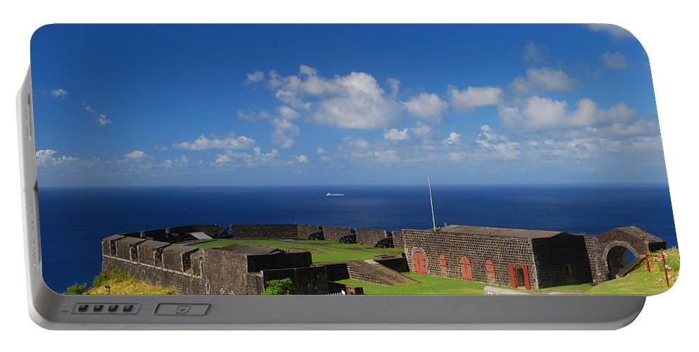 St. Kitts Portable Battery Charger featuring the photograph Brimstone Hill Fortress by Gary Wonning