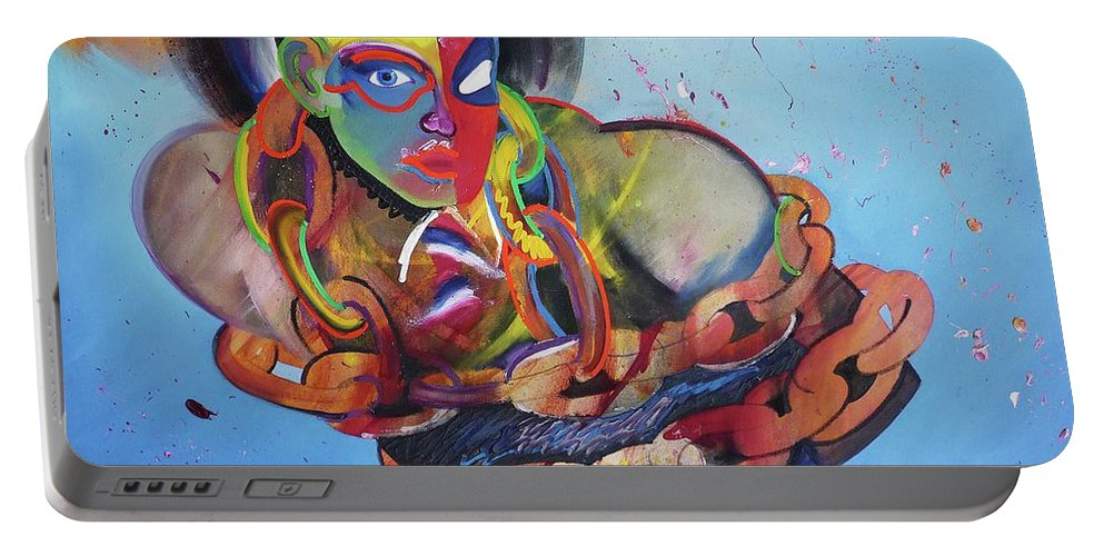 Figure Portable Battery Charger featuring the painting Bring Back My Glen Bott To Me by Charles Stuart