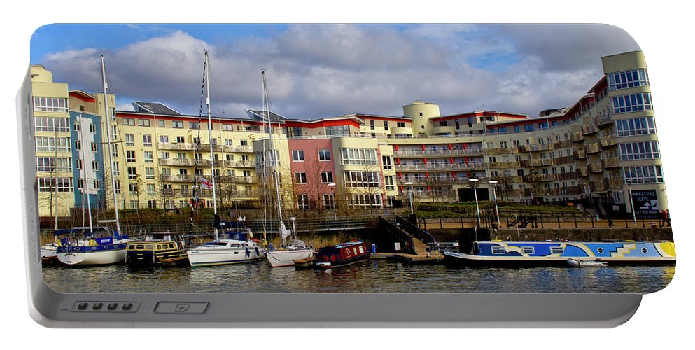 Bristol Portable Battery Charger featuring the photograph Bristol Harbour Appartments by Brian Roscorla