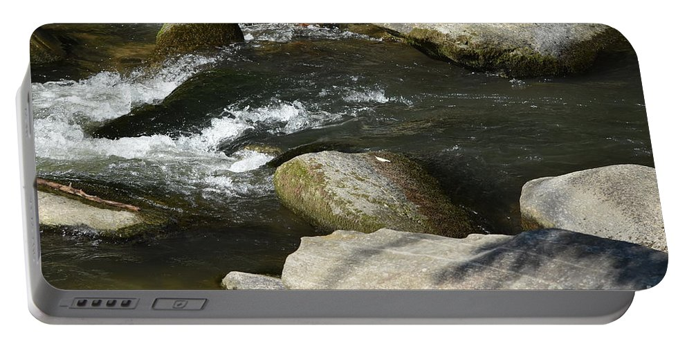 Asheville Portable Battery Charger featuring the photograph Broad River by Lisa Kleiner