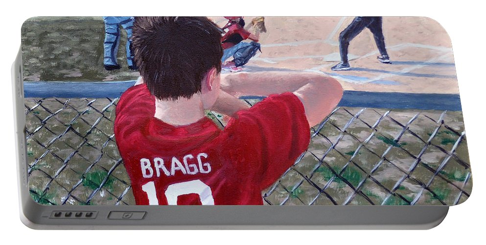 Child Portable Battery Charger featuring the painting Brock by Stan Hamilton