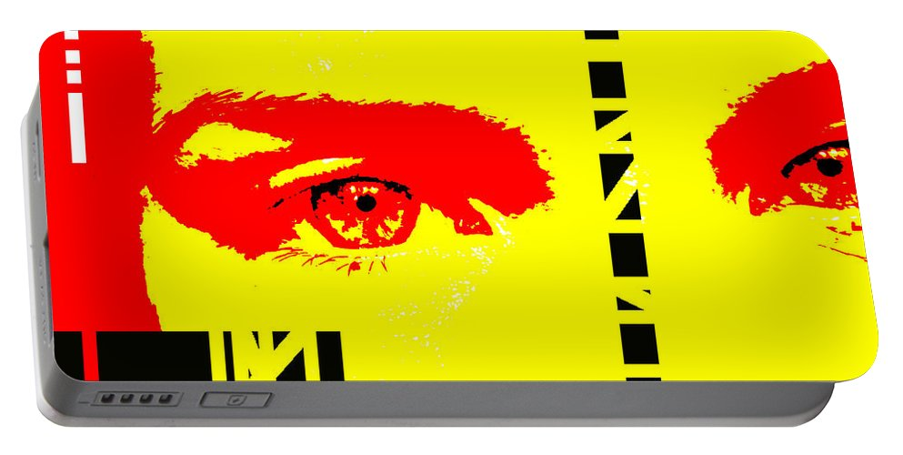 Eyes Portable Battery Charger featuring the photograph Broken by Amanda Barcon
