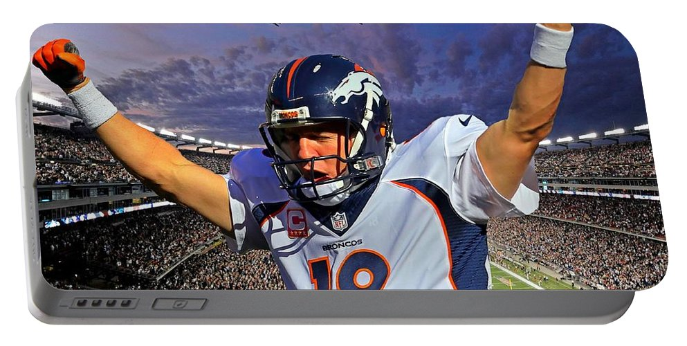 Broncos Win Super Bowl Fifty Portable Battery Charger featuring the photograph Broncos Win Super Bowl Fifty by John Malone
