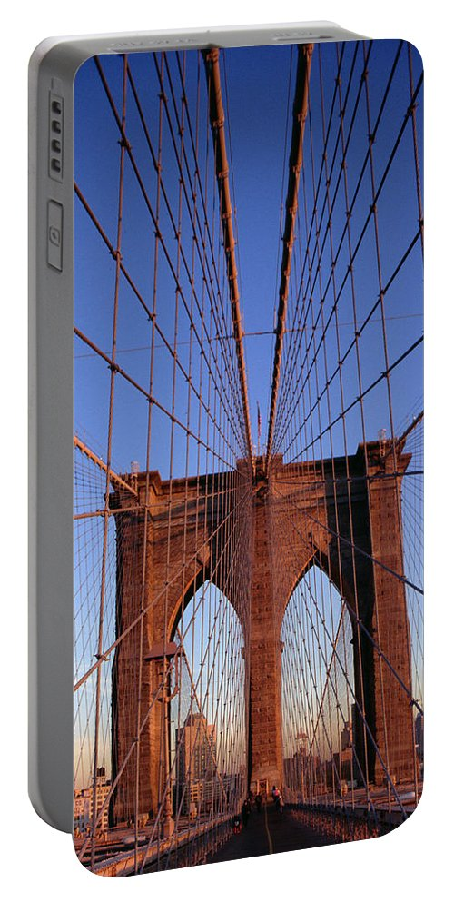 Brooklyn Bridge Portable Battery Charger featuring the photograph Brooklyn Bridge by Brooklyn Bridge