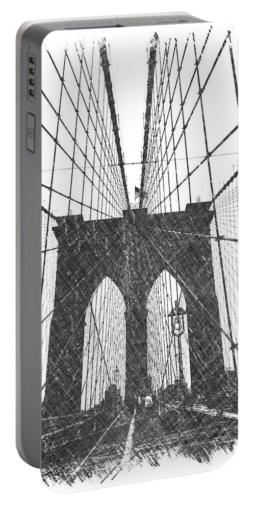 Brooklyn Portable Battery Charger featuring the photograph Brooklyn Bridge by Dick Goodman