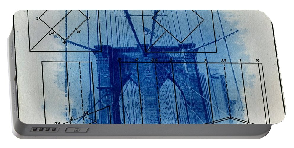 Brooklyn Bridge Portable Battery Charger featuring the photograph Brooklyn Bridge by Jane Linders