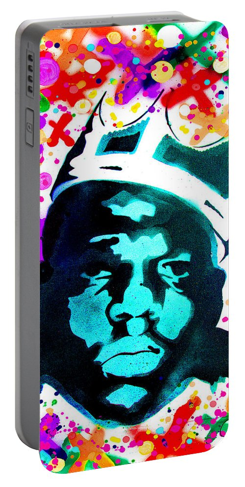 Nyc Portable Battery Charger featuring the digital art Brooklyn Jesus by Canvas Cultures