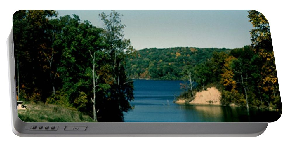 Brookville Indiana Portable Battery Charger featuring the photograph Brookville Lake Brookville Indiana by Gary Wonning