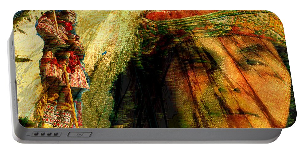 Brother Wind Portable Battery Charger featuring the digital art Brother Wind by Seth Weaver