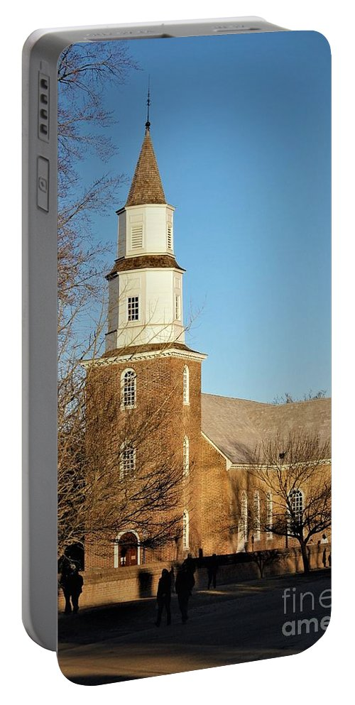 Bruton Parish Episcopal Church Portable Battery Charger featuring the photograph Bruton Parish Episcopal Church by Patti Whitten