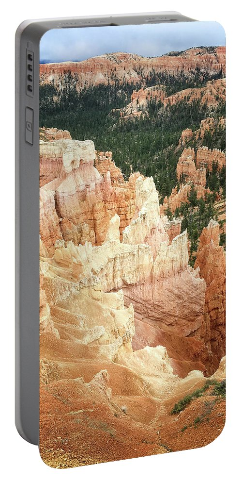Bryce Canyon Portable Battery Charger featuring the digital art Bryce Canyon Beauty by Anita Hubbard