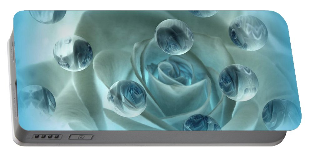 Rose Art Portable Battery Charger featuring the photograph Bubble Rose by Linda Sannuti