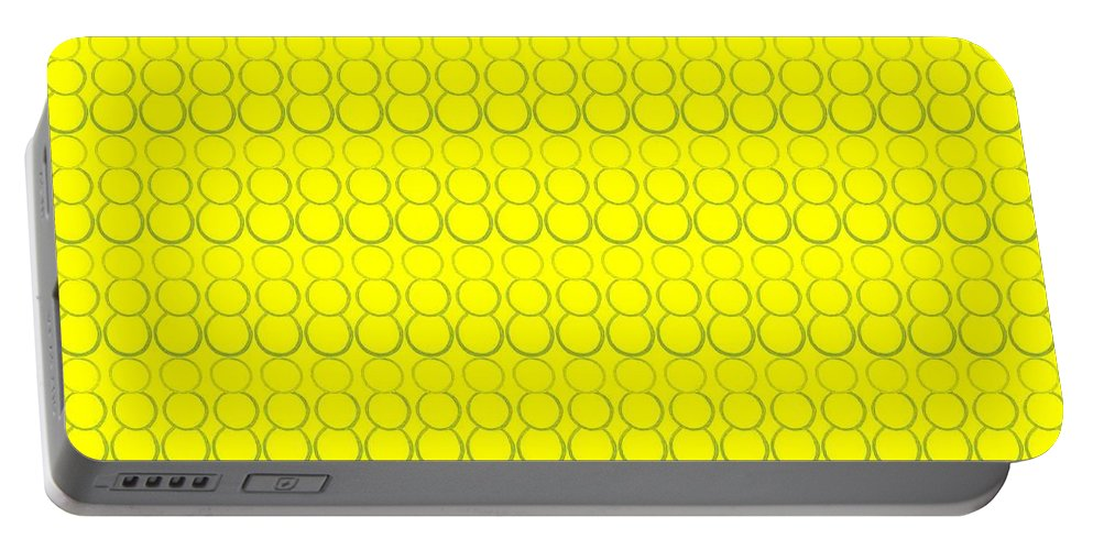Bubbles Portable Battery Charger featuring the pastel Bubbles All Over The Place 19 by Erma L George