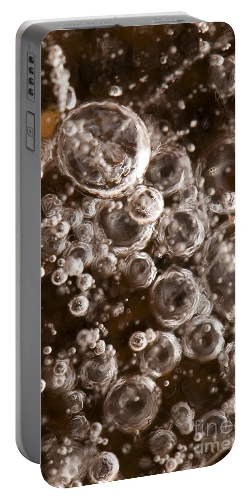 Abstract Portable Battery Charger featuring the photograph Bubbles by Anne Gilbert