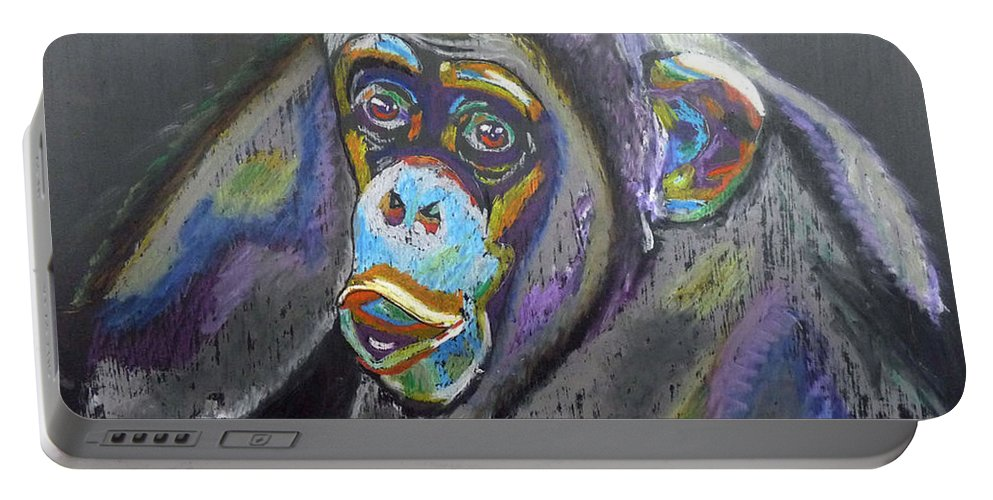 Michael Jackson Portable Battery Charger featuring the painting Bubbles by Richard Le Page