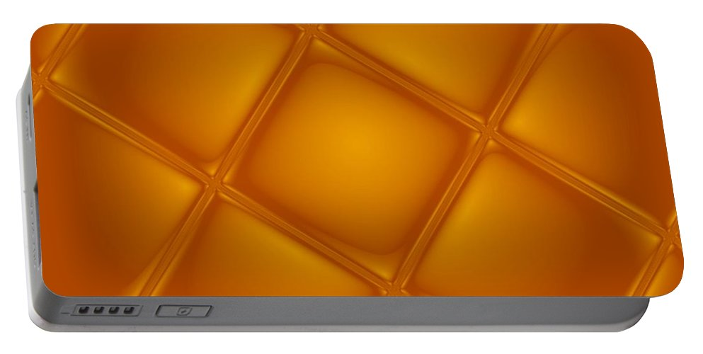 Digital Art Portable Battery Charger featuring the digital art Bubbling Amber by Pharris Art