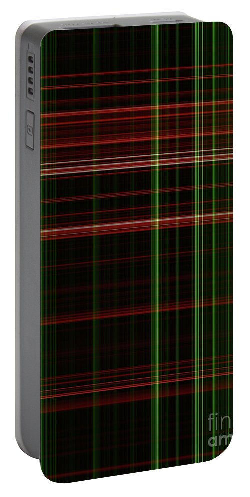 Abstract Portable Battery Charger featuring the digital art Buchanan by Eddie Barron