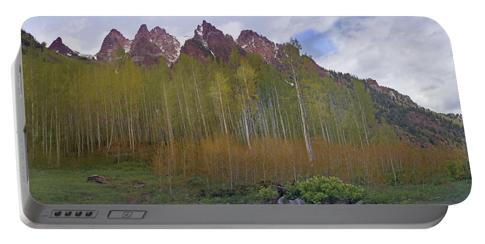 Mountain Portable Battery Charger featuring the photograph Buckskin Mtn And Friends by Heather Coen