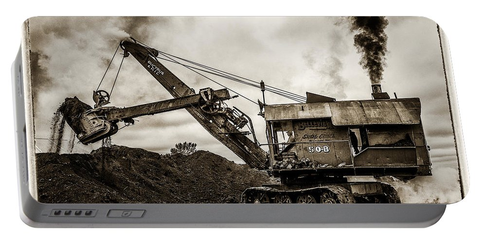 Mary Sue Portable Battery Charger featuring the photograph Bucyrus Erie Shovel by Paul Freidlund