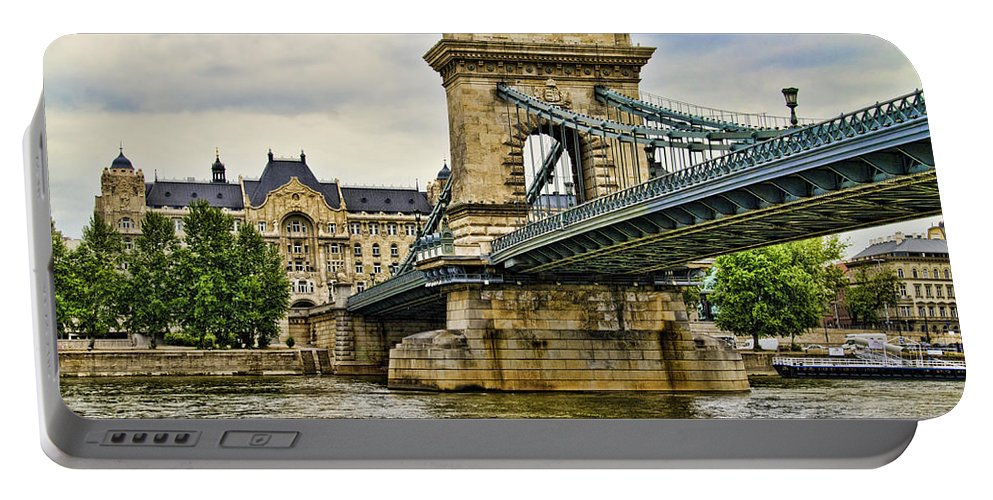 Szechenyi Chain Bridge Portable Battery Charger featuring the photograph Budapest - Chain Bridge by Jon Berghoff