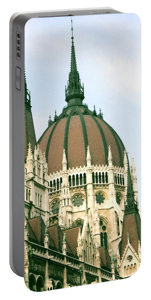 Parliment Portable Battery Charger featuring the photograph Budapest Parliment by Lauri Novak