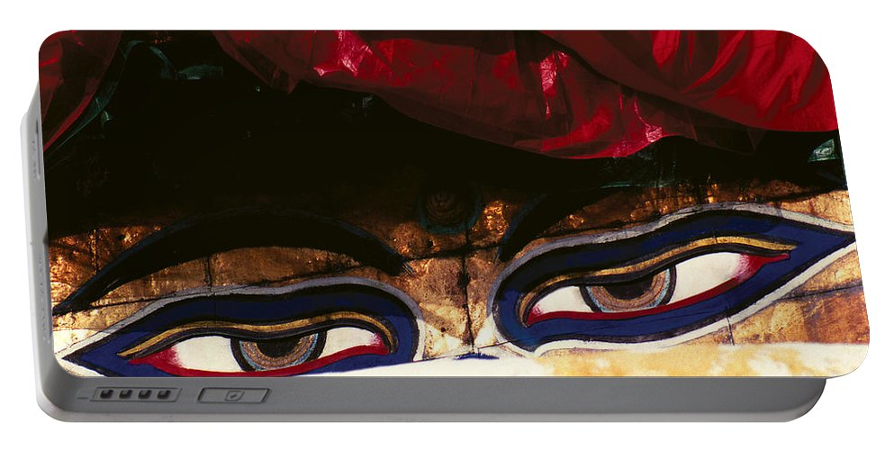 Eyes Portable Battery Charger featuring the photograph Buddha Eyes by Patrick Klauss
