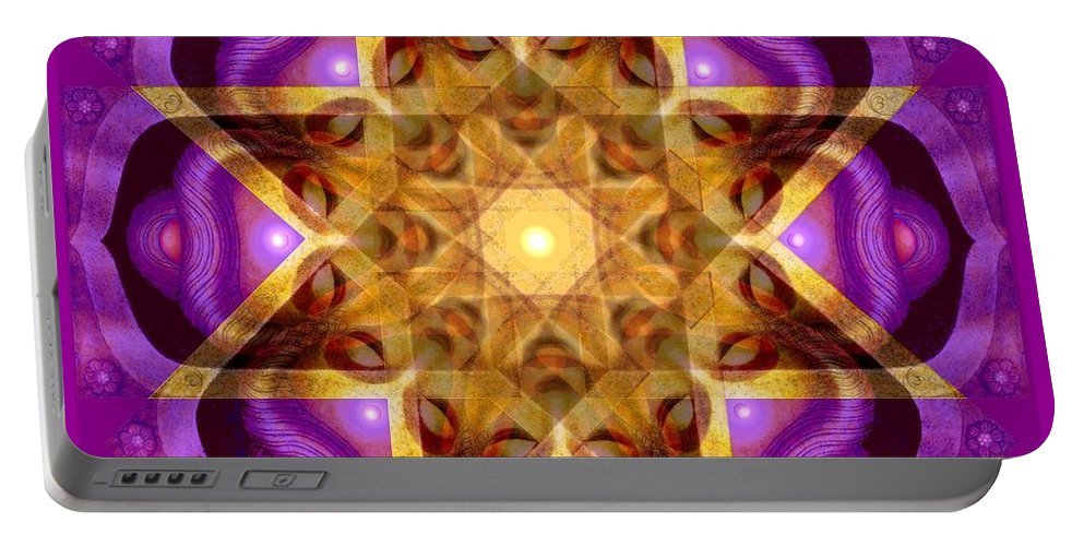 Buddha Portable Battery Charger featuring the painting Buddha Mandala by Sue Halstenberg