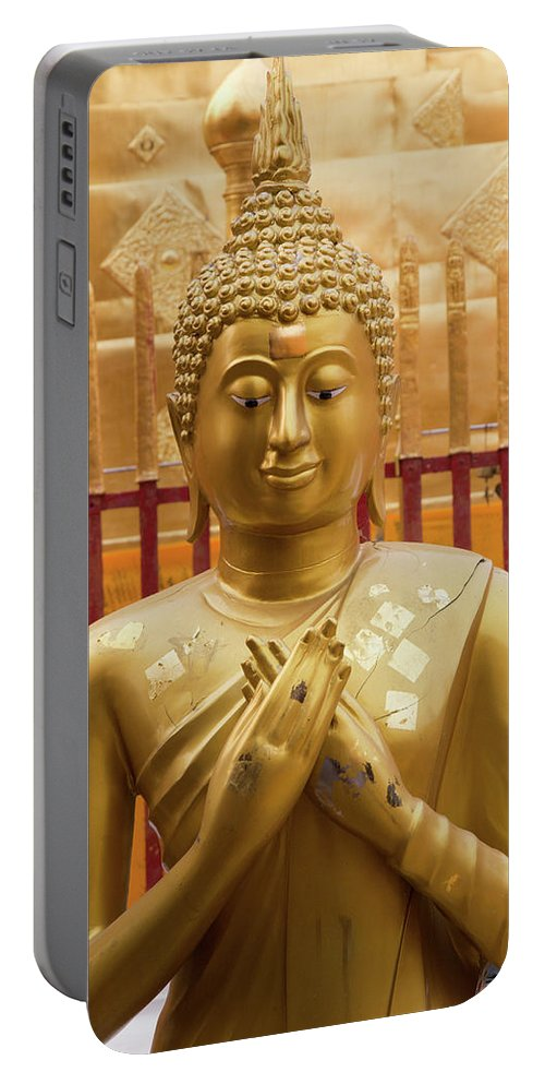Asia Portable Battery Charger featuring the photograph Buddha Statue by Emily M Wilson