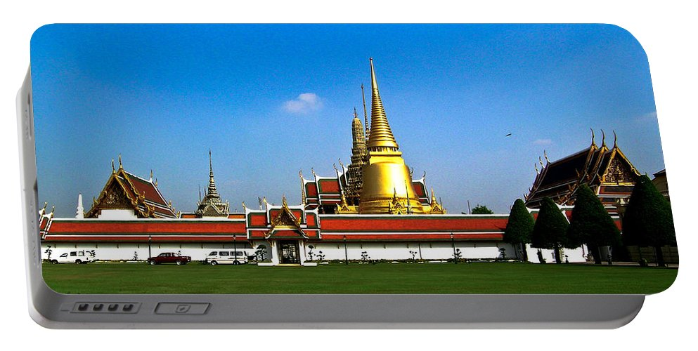 Buddha Portable Battery Charger featuring the photograph Buddhaist Temple by Douglas Barnett