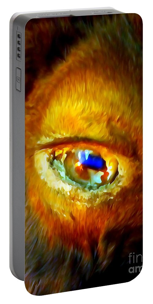 Digital Portable Battery Charger featuring the photograph Buffalo Eye by Ed Weidman
