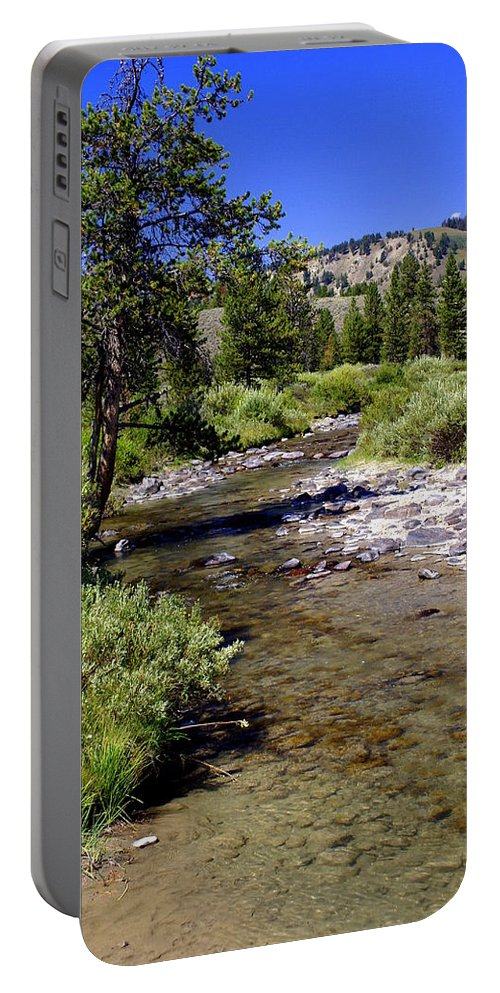 Montana Portable Battery Charger featuring the photograph Buffalo Fork by Marty Koch