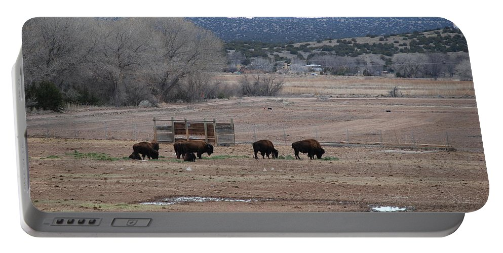 Buffalo Portable Battery Charger featuring the photograph Buffalo New Mexico by Rob Hans