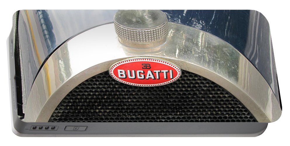 Bugatti Portable Battery Charger featuring the photograph Bugatti by Neil Zimmerman