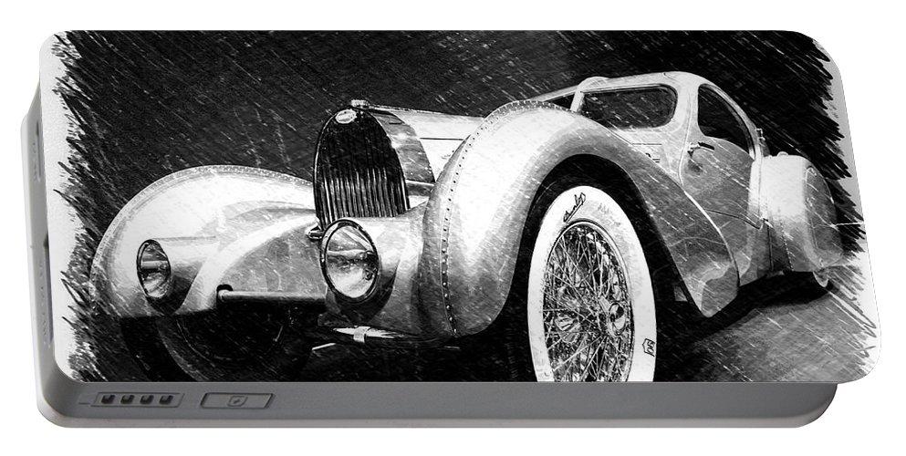Bugatti Portable Battery Charger featuring the photograph Bugatti Type 57 Aerolithe by Dick Goodman