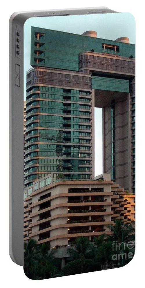 Building Portable Battery Charger featuring the photograph Building In Hawaii by Ron Bissett