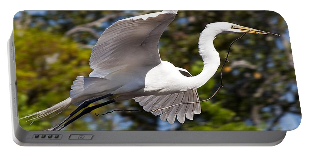 Wildlife Portable Battery Charger featuring the photograph Building The Nest by Kenneth Albin