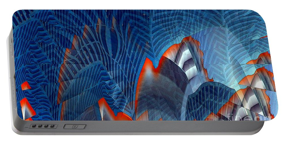 Dgital Art Portable Battery Charger featuring the digital art Buildingscape by Ron Bissett